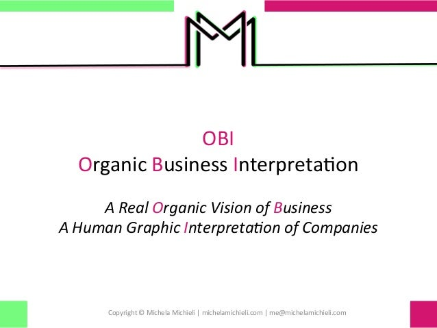 OBI   Organic Business Interpreta0on  A Real Organic Vision of Business A Human Graphic In...