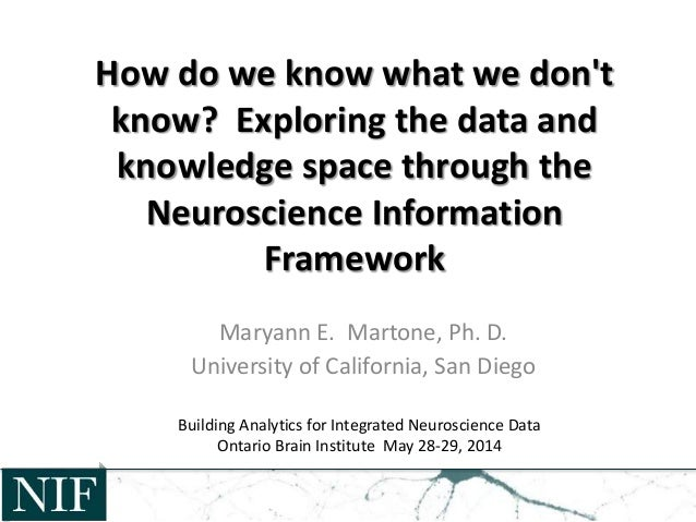 How do we know what we don't know? Exploring the data and knowledge space through the Neuroscience Information Framework M...