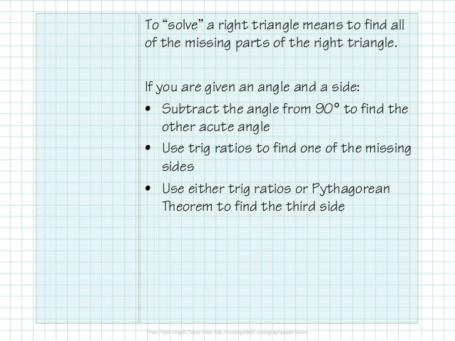 Obj. 34 Solving Right Triangles