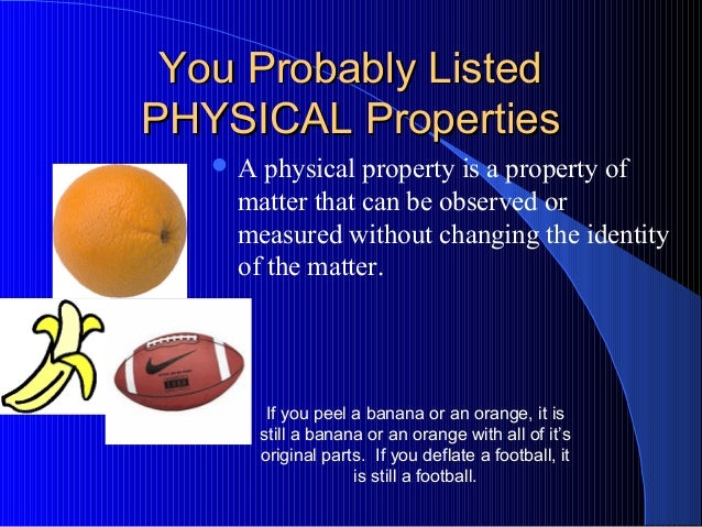 Is Color A Physical Property Or Chemical