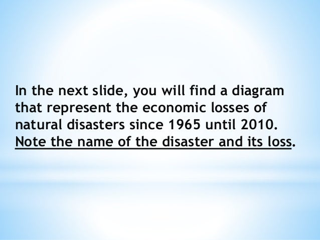 Impact Of Natural Disasters On Economic Development