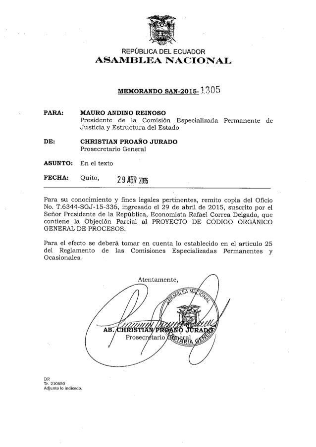 Objeción Parcial Proyecto COGEP