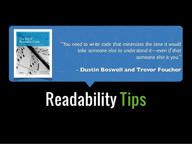 """Object Calisthenics+Readability Tips""""You need to write code that minimizes the time it wouldtake someone else to understan..."""