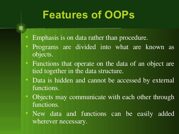 oop language If you've never used an object-oriented programming language before, you'll need to learn a few basic concepts before you can begin writing any code.
