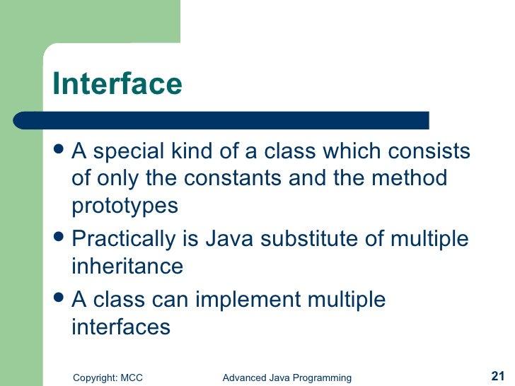 Multiple Inheritance Using Interface Example Java Program