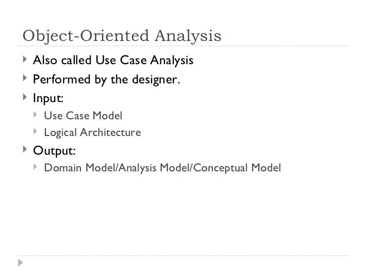 object oriented analysis & design pdf