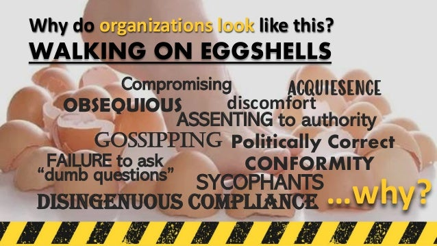 GOSSIPPING OBSEQUIOUS …why? Why do organizations look like this? ACQUIESENCE ASSENTING to authority CONFORMITY Politically...