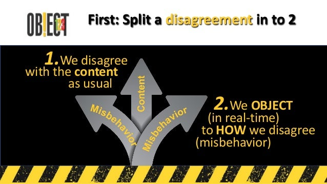 When one feels offended simply… We use Stop-The-Line Conversations to remove misbehavior