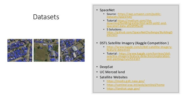 Object extraction from satellite imagery using deep learning