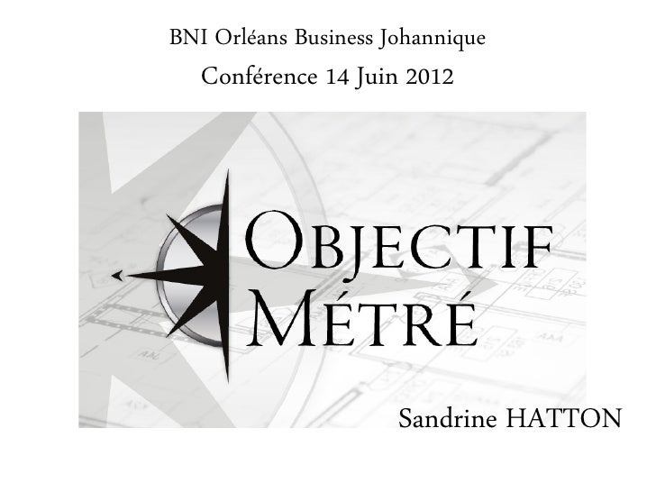 BNI Orléans Business Johannique   Conférence 14 Juin 2012                      Sandrine HATTON