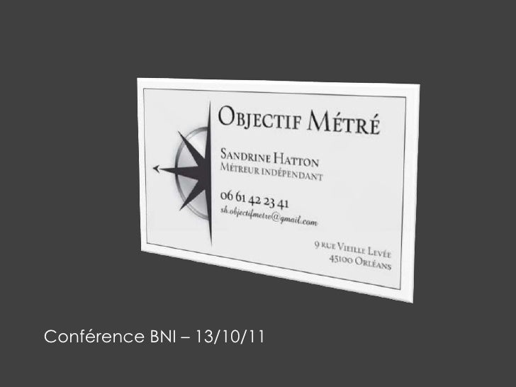 Conférence BNI – 13/10/11<br />