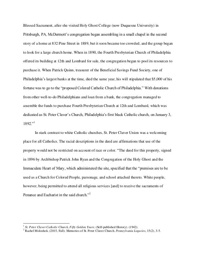 Objection to Archdiocese of Philadelphia Petition for Cy Pres - St. Peter Claver Catholic Church Slide 2