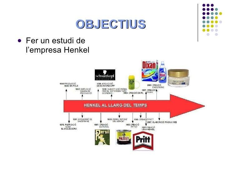 OBJECTIUS <ul><li>Fer un estudi de l'empresa Henkel </li></ul>