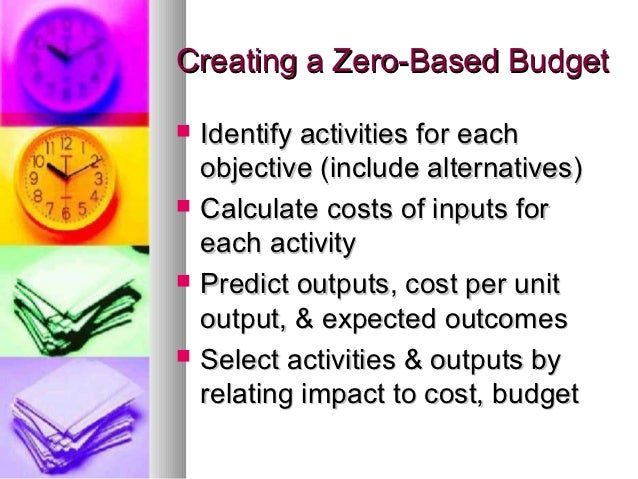 Objective Based Budgets Gpa 2012