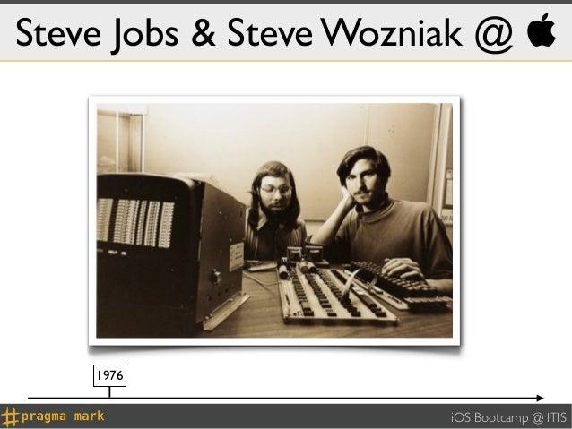 Steve Jobs & Steve Wozniak @     1976                        iOS Bootcamp @ ITIS
