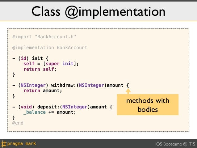 """Class @implementation#import """"BankAccount.h""""@implementation BankAccount- (id) init {    self = [super init];    return sel..."""