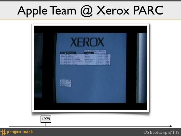 Apple Team @ Xerox PARC   1979                   iOS Bootcamp @ ITIS