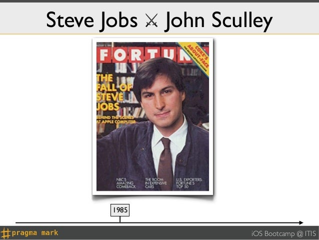 Steve Jobs ⚔ John Sculley       1985                      iOS Bootcamp @ ITIS