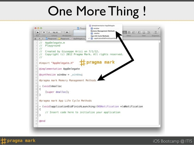 One More Thing !                   iOS Bootcamp @ ITIS