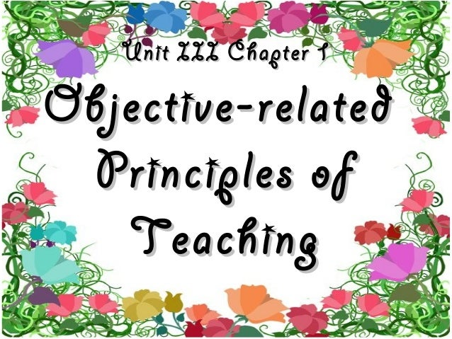 Objective related principles of teaching