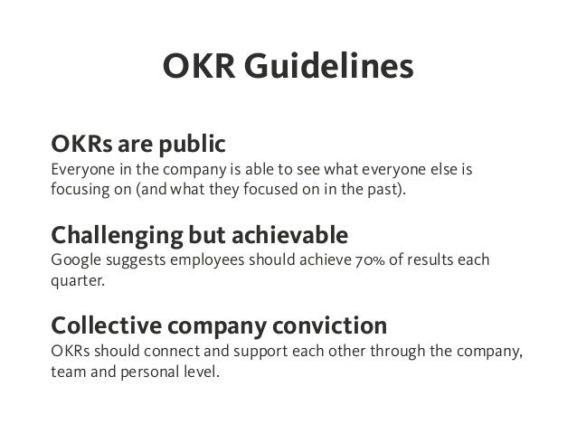 Okr - Objectives And Key Results - Effective Goal Setting On Company,…