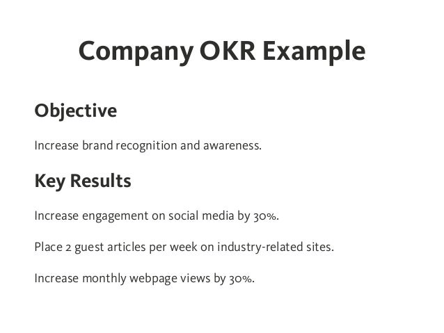 Okr Objectives And Key Results Effective Goal Setting