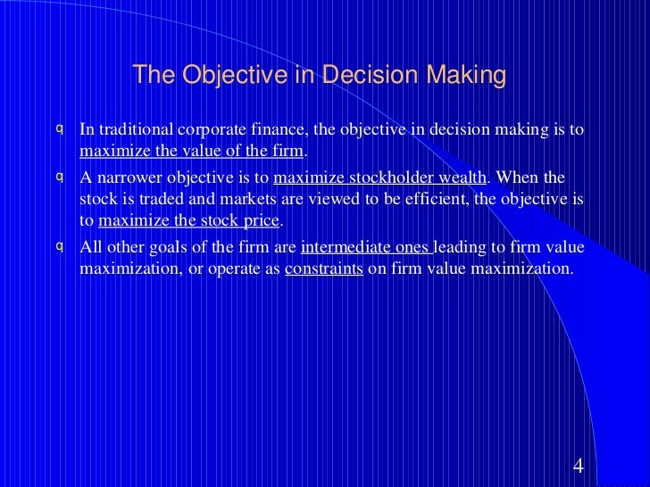corporate finance objectives Introduction to corporate finance introductionr1doc page 1 lecture objectives this lecture will provide an introduction to corporate finance.