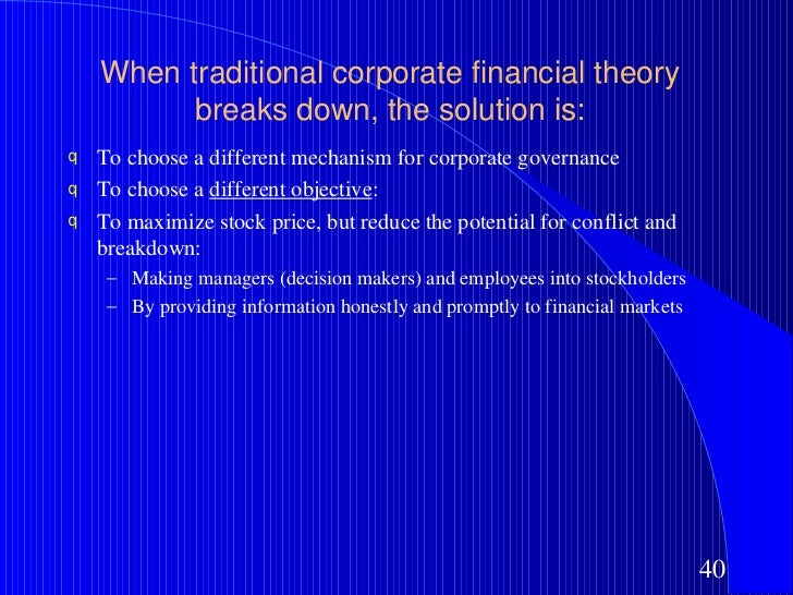 the objective in corporate finance How to set smart goals, targets/objectives for accounting department fp&a andy tan profile title: as with many things we are called to do in corporate america the personnel outside finance department will enjoy it.