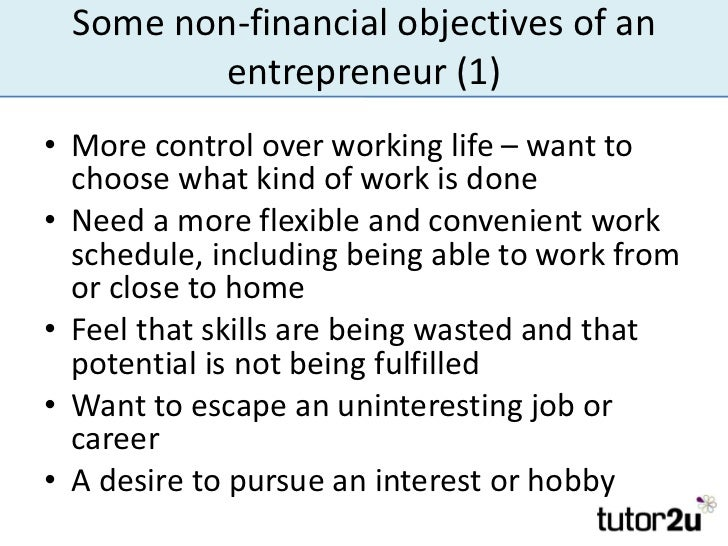 What are the Non-financial objectives of a business ?