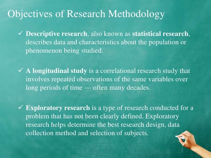 objectives of research methodology Scientific research: from formulation of problems to setting research objectives, to designing the study,  health research methodology:.