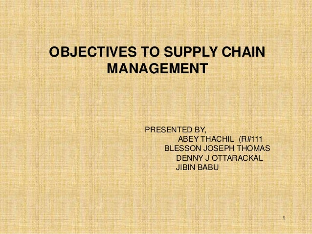 Supply chain activities pdf