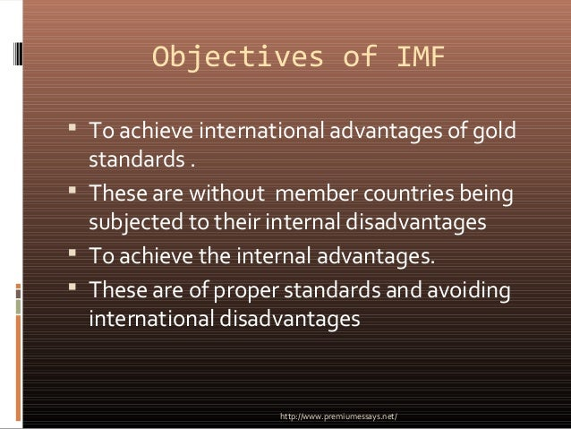 an introduction to the international monetary fund The imf introduction in this section, the international monetary fund (imf) will be explored, including its history, mission, and current role in the global economy the international monetary fund (imf) functions as an institution tasked with maintaining global economic stability and functionality of global financial markets.