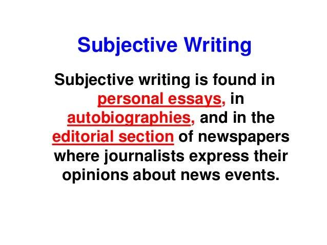 subjective news