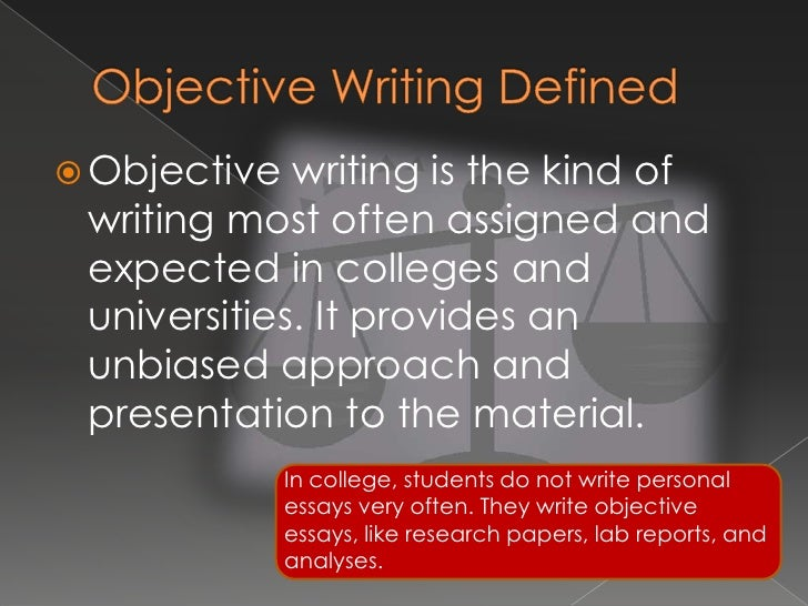 objective writing - Write An Objective