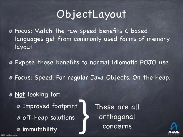 ObjectLayout: Closing the (last?) inherent C vs. Java speed gap Slide 2