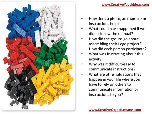 Object Lesson Lego Instructions For The Christian Life