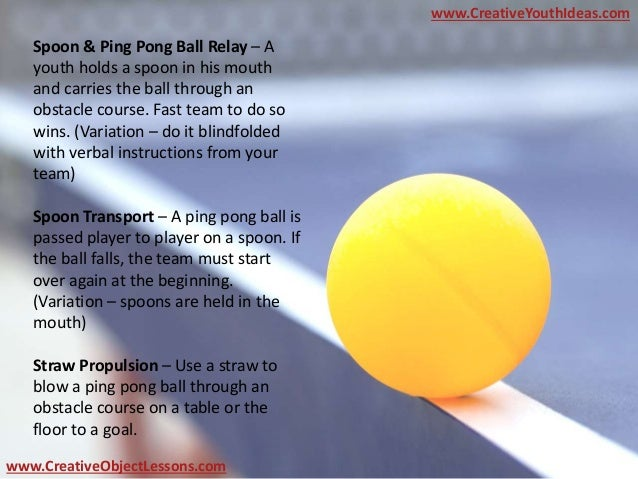 Object Lesson Ping Pong Christians