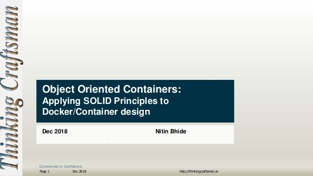 Object Oriented Containers - Applying SOLID Principles to