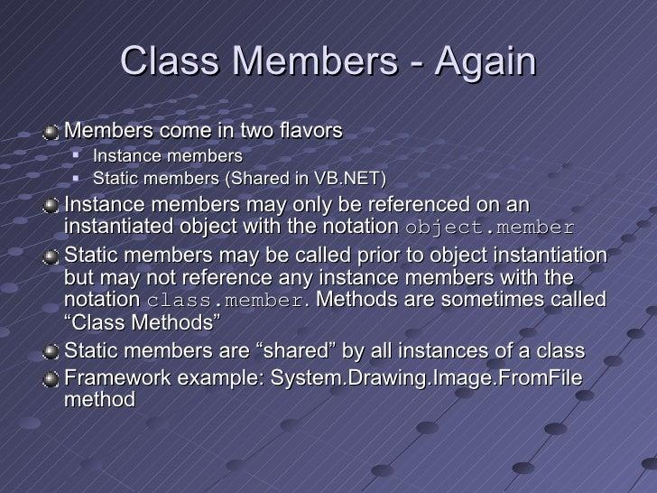 Object Oriented Programming In  Net