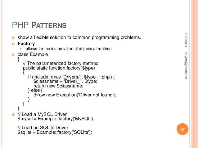 Php class example.