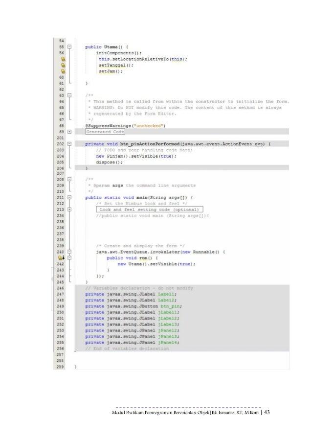 object oriented programming java pdf