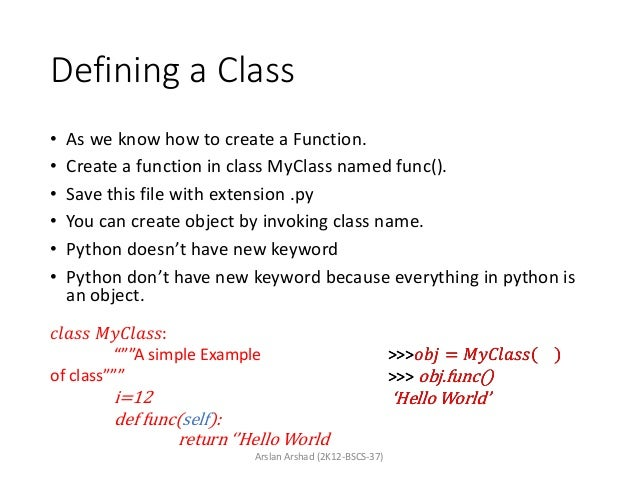 Python - Object Oriented