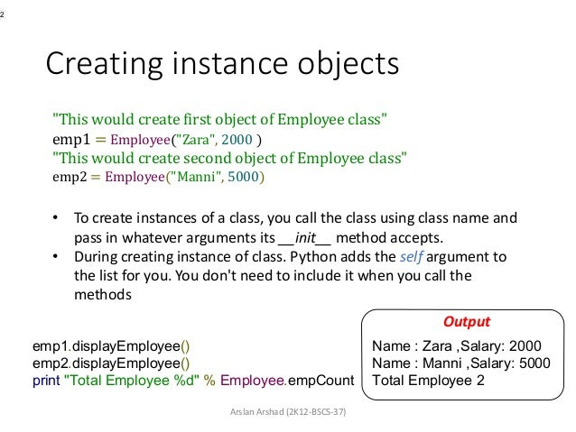 Object oriented programming with python