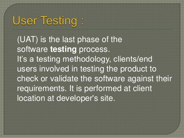 Scenario Base testing :-  Scenario testing is a software testing technique by which we test the software activity that us...