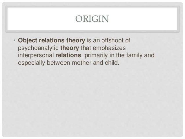 Object relation therapy