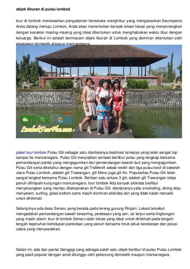 Objek Wisata Di Pulau Lombok