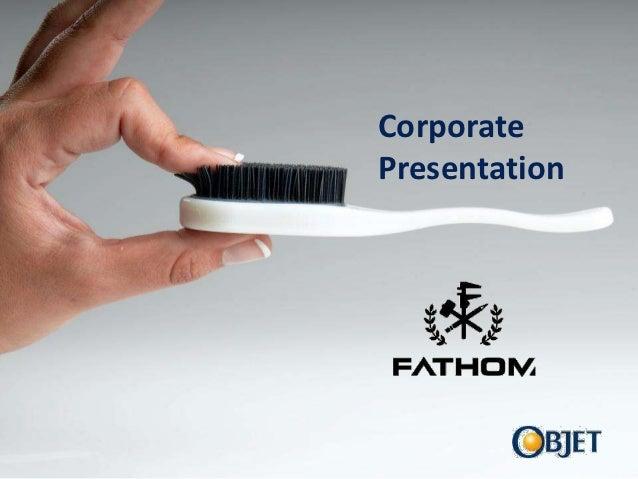 CorporateObjet              PresentationPresenter's Name