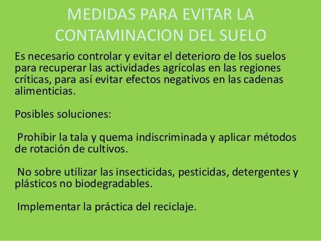 Objetivo general contaminacion del suelo for 5 cuidados del suelo