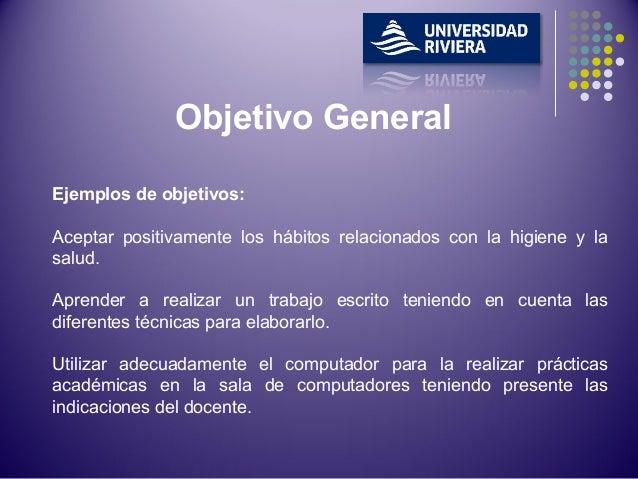 Objetivo Generalyespecificos