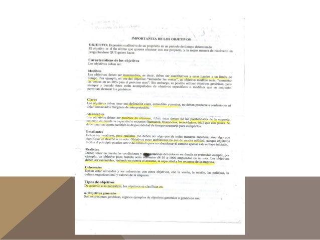 Objetivos, eficiencia y eficacia Slide 2